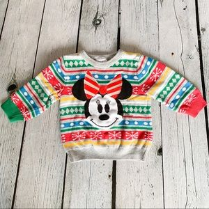 Disney Baby Minnie Mouse Christmas Sweater